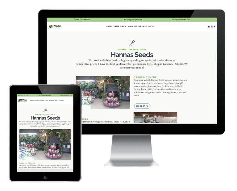 Hannas Seeds Is A Client That We Provided Web Design And Website Care Plan, Hosting And Seo.