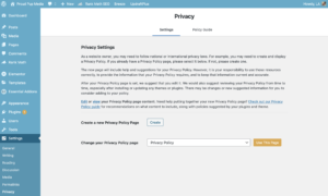 website privacy policy updates
